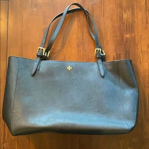 Tory Burch black leather tote